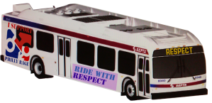 "RAGE's ""Ride with Respect"" bus"